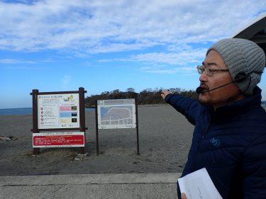 千葉・館山市沖ノ島の環境再生に向けての視察で取材を受けました